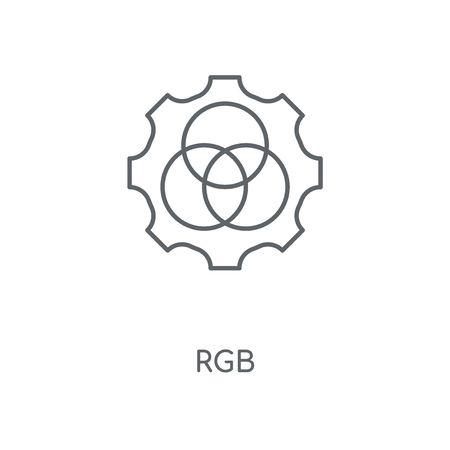 Rgb linear icon. Rgb concept stroke symbol design. Thin graphic elements vector illustration, outline pattern on a white background, eps 10.