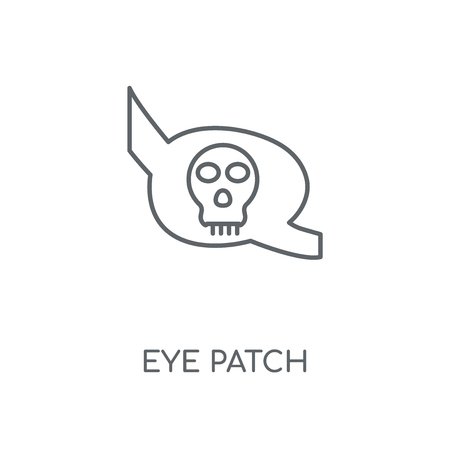 Eye patch linear icon. Eye patch concept stroke symbol design. Thin graphic elements vector illustration, outline pattern on a white background, eps 10.