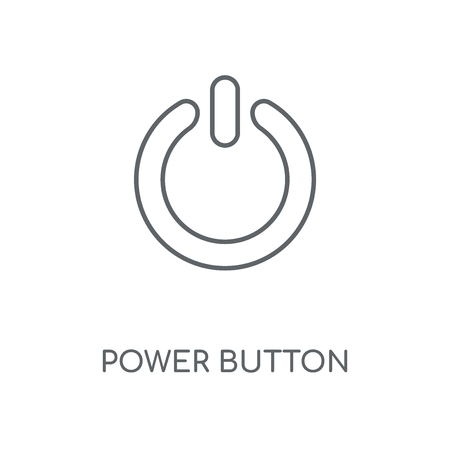 Power button linear icon. Power button concept stroke symbol design. Thin graphic elements vector illustration, outline pattern on a white background, eps 10.