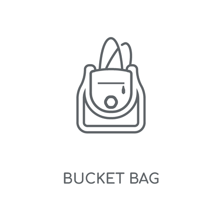 Bucket Bag linear icon. Bucket Bag concept stroke symbol design. Thin graphic elements vector illustration, outline pattern on a white background, eps 10.