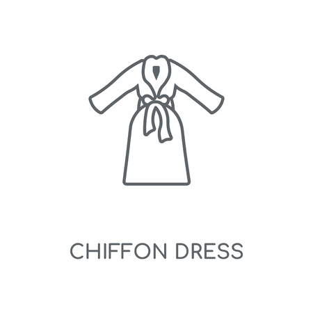 Chiffon Dress linear icon. Chiffon Dress concept stroke symbol design. Thin graphic elements vector illustration, outline pattern on a white background, eps 10.