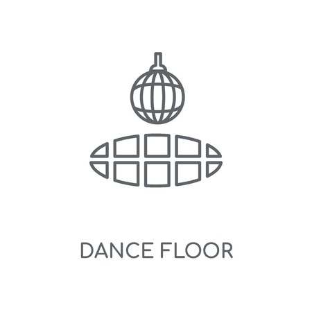 Dance floor linear icon. Dance floor concept stroke symbol design. Thin graphic elements vector illustration, outline pattern on a white background, eps 10.