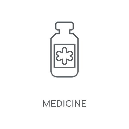 Medicine linear icon. Medicine concept stroke symbol design. Thin graphic elements vector illustration, outline pattern on a white background, eps 10. Çizim