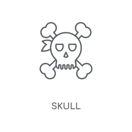 Skull linear icon. Skull concept stroke symbol design. Thin graphic elements vector illustration, outline pattern on a white background, eps 10. Çizim
