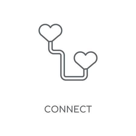 Connect linear icon. Connect concept stroke symbol design. Thin graphic elements vector illustration, outline pattern on a white background, eps 10.