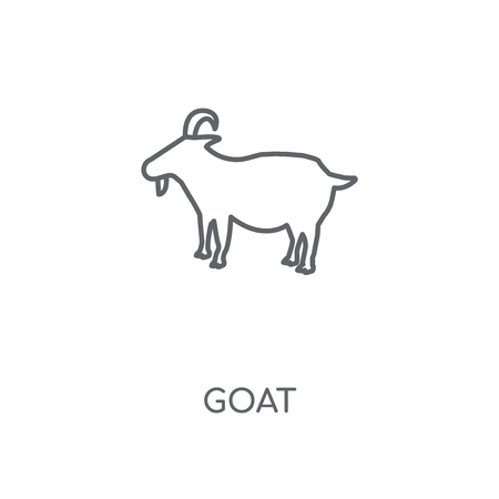 Goat linear icon. Goat concept stroke symbol design. Thin graphic elements vector illustration, outline pattern on a white background, eps 10. 矢量图像