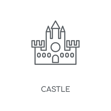 Castle linear icon. Castle concept stroke symbol design. Thin graphic elements vector illustration, outline pattern on a white background, eps 10.