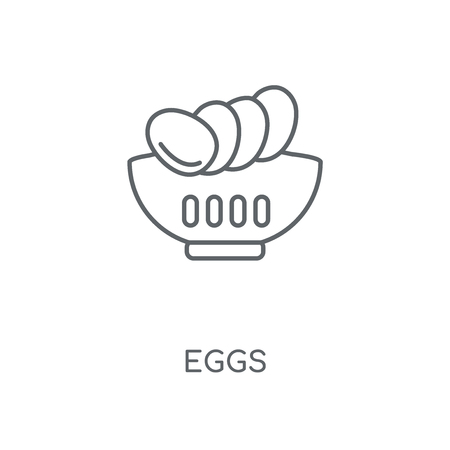 Eggs linear icon. Eggs concept stroke symbol design. Thin graphic elements vector illustration, outline pattern on a white background, eps 10.