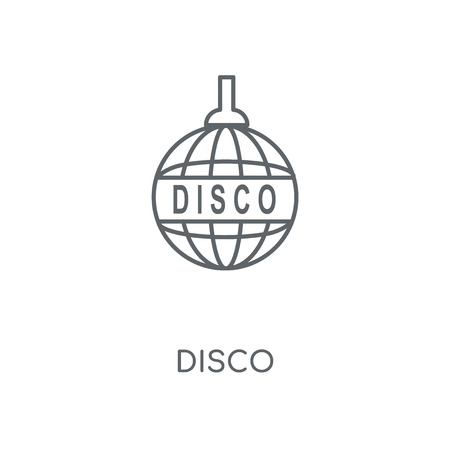 Disco linear icon. Disco concept stroke symbol design. Thin graphic elements vector illustration, outline pattern on a white background, eps 10.