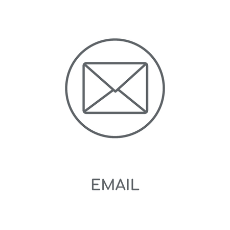 Email linear icon. Email concept stroke symbol design. Thin graphic elements vector illustration, outline pattern on a white background, eps 10.  イラスト・ベクター素材