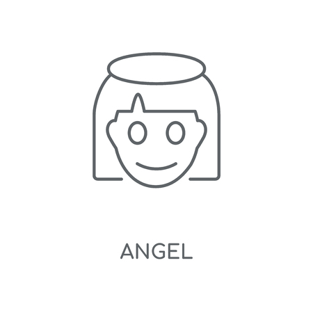 Angel linear icon. Angel concept stroke symbol design. Thin graphic elements vector illustration, outline pattern on a white background, eps 10.  イラスト・ベクター素材