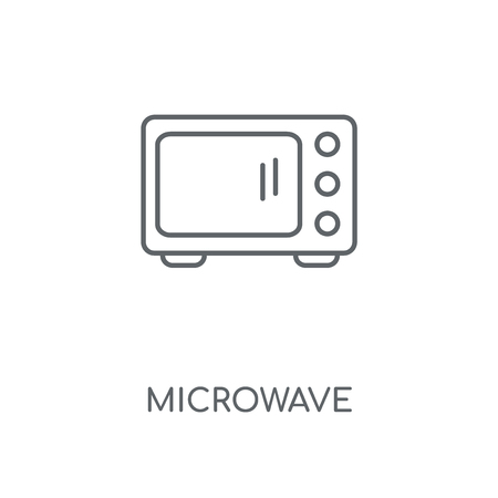 Microwave linear icon. Microwave concept stroke symbol design. Thin graphic elements vector illustration, outline pattern on a white background, eps 10.