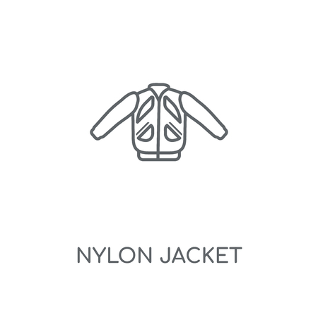 Nylon Jacket linear icon. Nylon Jacket concept stroke symbol design. Thin graphic elements vector illustration, outline pattern on a white background, eps 10.