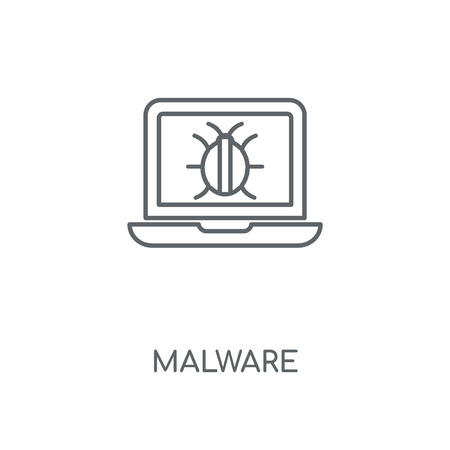 Malware linear icon. Malware concept stroke symbol design. Thin graphic elements vector illustration, outline pattern on a white background, eps 10.