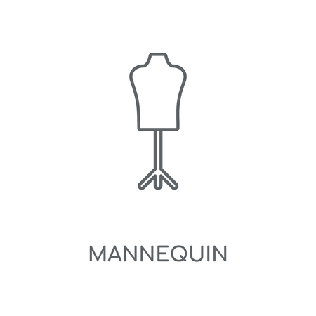 Mannequin linear icon. Mannequin concept stroke symbol design. Thin graphic elements vector illustration, outline pattern on a white background, eps 10.