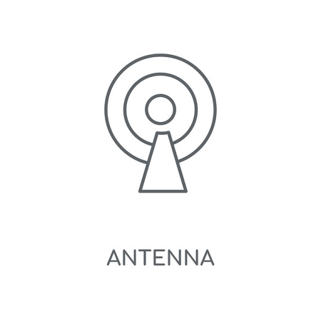 Antenna linear icon. Antenna concept stroke symbol design. Thin graphic elements vector illustration, outline pattern on a white background, eps 10.  イラスト・ベクター素材