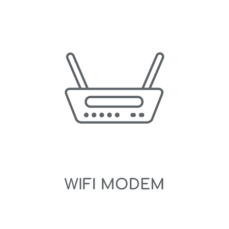 Wifi Modem linear icon. Wifi Modem concept stroke symbol design. Thin graphic elements vector illustration, outline pattern on a white background, eps 10.