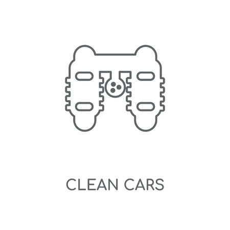Clean cars linear icon. Clean cars concept stroke symbol design. Thin graphic elements vector illustration, outline pattern on a white background, eps 10.