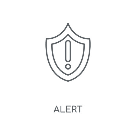 Alert linear icon. Alert concept stroke symbol design. Thin graphic elements vector illustration, outline pattern on a white background, eps 10.  イラスト・ベクター素材