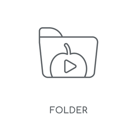 Folder linear icon. Folder concept stroke symbol design. Thin graphic elements vector illustration, outline pattern on a white background, eps 10.