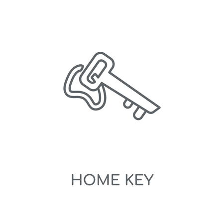 Home Key linear icon. Home Key concept stroke symbol design. Thin graphic elements vector illustration, outline pattern on a white background, eps 10.