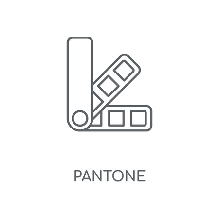 Pantone linear icon. Pantone concept stroke symbol design. Thin graphic elements vector illustration, outline pattern on a white background, eps 10.