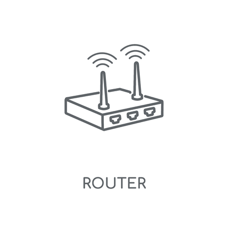 Router linear icon. Router concept stroke symbol design. Thin graphic elements vector illustration, outline pattern on a white background, eps 10.