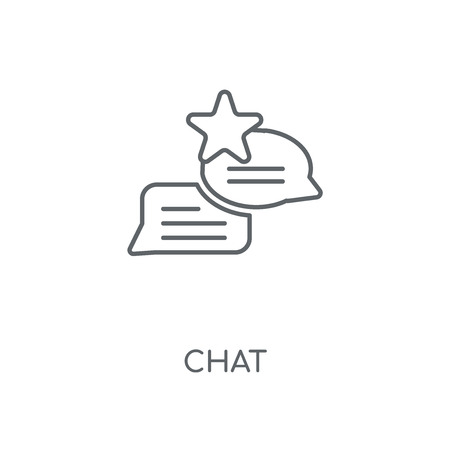 Chat linear icon. Chat concept stroke symbol design. Thin graphic elements vector illustration, outline pattern on a white background, eps 10.