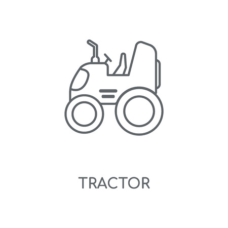 Tractor linear icon. Tractor concept stroke symbol design. Thin graphic elements vector illustration, outline pattern on a white background, eps 10.