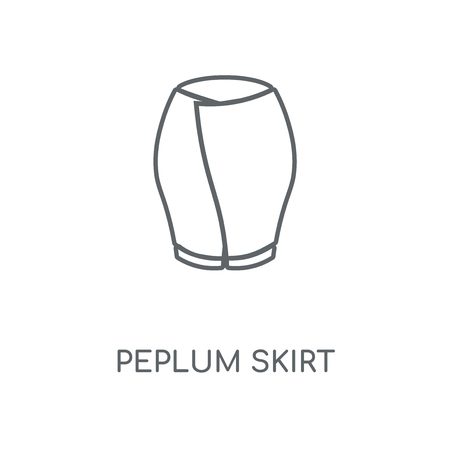 Peplum Skirt linear icon. Peplum Skirt concept stroke symbol design. Thin graphic elements vector illustration, outline pattern on a white background, eps 10. Stok Fotoğraf - 113803937