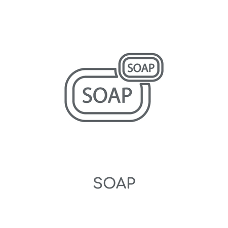 Soap linear icon. Soap concept stroke symbol design. Thin graphic elements vector illustration, outline pattern on a white background, eps 10.