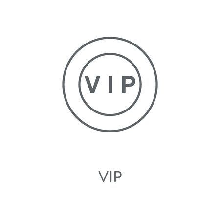 Vip linear icon. Vip concept stroke symbol design. Thin graphic elements vector illustration, outline pattern on a white background, eps 10.