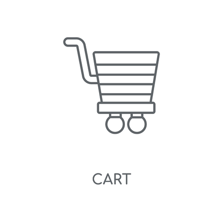 Cart linear icon. Cart concept stroke symbol design. Thin graphic elements vector illustration, outline pattern on a white background, eps 10.