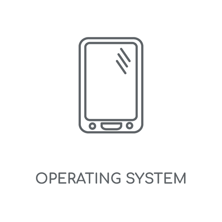Operating System linear icon. Operating System concept stroke symbol design. Thin graphic elements vector illustration, outline pattern on a white background, eps 10.
