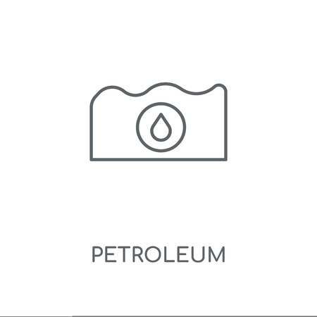 Petroleum linear icon. Petroleum concept stroke symbol design. Thin graphic elements vector illustration, outline pattern on a white background, eps 10.