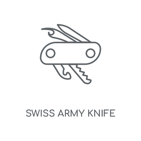 Swiss army knife linear icon. Swiss army knife concept stroke symbol design. Thin graphic elements vector illustration, outline pattern on a white background, eps 10.
