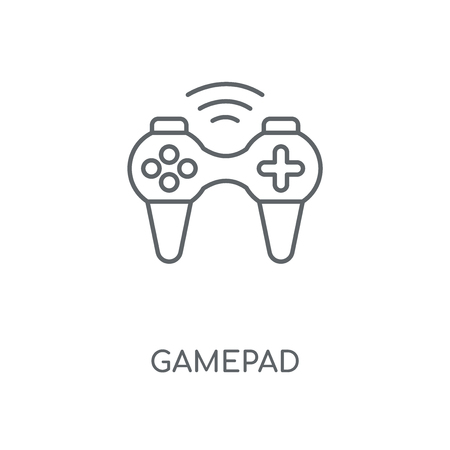 Gamepad linear icon. Gamepad concept stroke symbol design. Thin graphic elements vector illustration, outline pattern on a white background, eps 10.  イラスト・ベクター素材