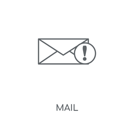 Mail linear icon. Mail concept stroke symbol design. Thin graphic elements vector illustration, outline pattern on a white background, eps 10.  イラスト・ベクター素材