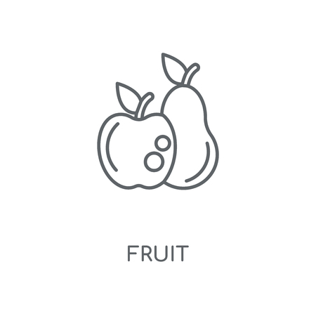 Fruit linear icon. Fruit concept stroke symbol design. Thin graphic elements vector illustration, outline pattern on a white background, eps 10.  イラスト・ベクター素材