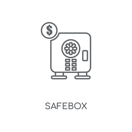 Safebox linear icon. Safebox concept stroke symbol design. Thin graphic elements vector illustration, outline pattern on a white background, eps 10.
