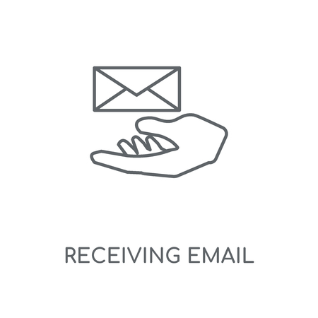 Receiving Email linear icon. Receiving Email concept stroke symbol design. Thin graphic elements vector illustration, outline pattern on a white background, eps 10.