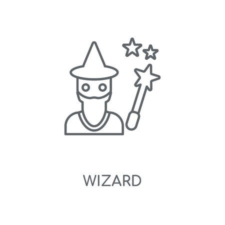 Wizard linear icon. Wizard concept stroke symbol design. Thin graphic elements vector illustration, outline pattern on a white background, eps 10.