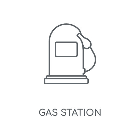 Gas station linear icon. Gas station concept stroke symbol design. Thin graphic elements vector illustration, outline pattern on a white background, eps 10.