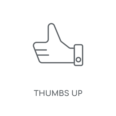 Thumbs up linear icon. Thumbs up concept stroke symbol design. Thin graphic elements vector illustration, outline pattern on a white background, eps 10.