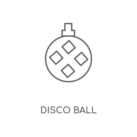Disco ball linear icon. Disco ball concept stroke symbol design. Thin graphic elements vector illustration, outline pattern on a white background, eps 10.