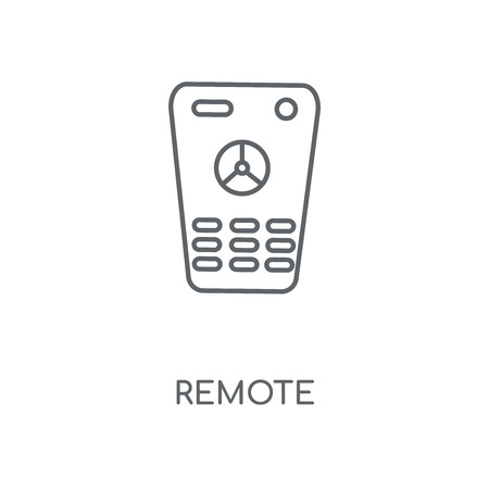 Remote linear icon. Remote concept stroke symbol design. Thin graphic elements vector illustration, outline pattern on a white background, eps 10.