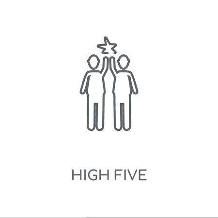high five linear icon. high five concept stroke symbol design. Thin graphic elements vector illustration, outline pattern on a white background, eps 10.