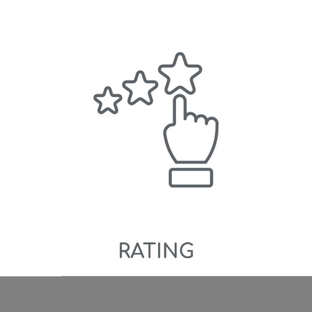 Rating linear icon. Rating concept stroke symbol design. Thin graphic elements vector illustration, outline pattern on a white background, eps 10.