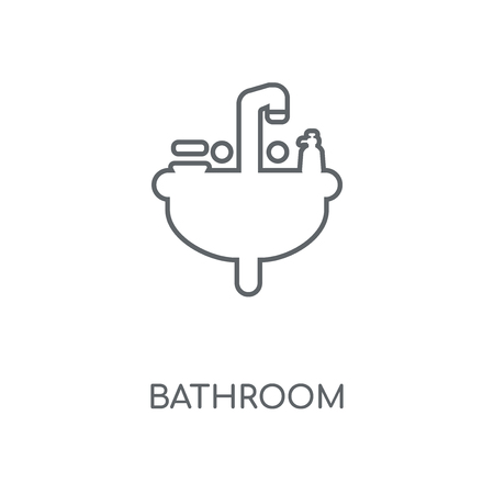 Bathroom linear icon. Bathroom concept stroke symbol design. Thin graphic elements vector illustration, outline pattern on a white background, eps 10.