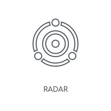 Radar linear icon. Radar concept stroke symbol design. Thin graphic elements vector illustration, outline pattern on a white background, eps 10. Illusztráció